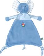 Die Spiegelburg 13966 BabyGlück - Schnuffeltuch Elefant, hellblau, ab 0 Monate