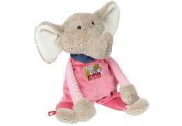 Sigikid 38731 Beste Freunde - Kuscheltier Elefant, Plüsch/Baumwolle/Polyester, ca. 32x13x16 cm