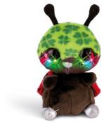 Nici Flashies Marienkäfer Luckymacky, Kuscheltier mit LED-Augen, 12 cm, ab 3 Monate