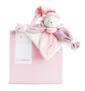 Doudou - Schmusetuch Bär,rosa 24cm