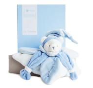 Doudou - Schmustetuch Bär,blau 24cm