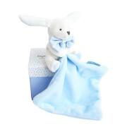 Doudou - Hase mit Schmusetuch,himmelblau 10cm