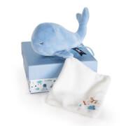 Doudou - Wal mit Schmusetuch, blau 15cm
