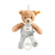 Steiff Schlaf Gut Bär Spieluhr, grau, 20 cm