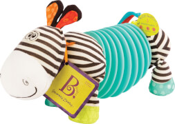 B. toys Soft Accordion Zebra Squeezy Zeeby
