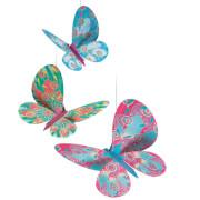 Fenstermobile: Glitzer Schmetterlinge