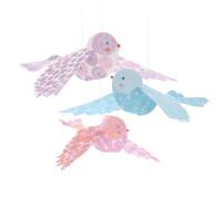 Fenstermobile: Glitzer Vögel