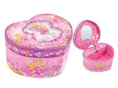 Spieluhr Herz pink/lila
