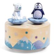 Musikuhren: Eisbär & Pinguin