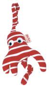 Käthe Kruse Octopussi Kindersitzanhänger rot / weiß