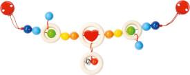 GoKi Kinderwagenkette Herz mit Clips