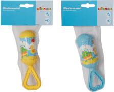 SpielMaus Baby Rassel mit Griff, Babyspielzeug, ca. 5x5x15,5 cm, ab 0 Monaten