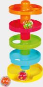 SpielMaus Baby Kugelbahn aus Kunststoff, 4-teilig, 27x12x28 cm, ab 12 Monaten