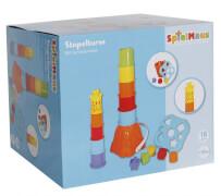 SpielMaus Baby Stapelturm und Steckbox, ca. 18,5x17x80,5 cm, ab 18 Monaten