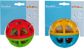 SpielMaus Baby Rasselball, 2-fach sortiert, 10 cm