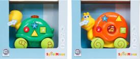 SpielMaus Baby Schiebetiere mit Licht und Sound, 2-fach sortiert, ca. 15x6,9x12,3 cm, ab 6 Monaten (nicht frei wählbar)