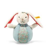 Steiff Blossom Hase Klangspiel, weiß/bunt, 19 cm