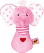 Die Spiegelburg - BabyGlück, Minirassel Elefant, rosa, ca. 9 cm, ab 0 Monaten