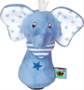 Die Spiegelburg - BabyGlück Minirassel Elefant, hellblau, ca. 9 cm, ab 0 Monaten