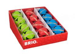 BRIO 63050500 Motorik-Rasselbälle, 3fach sort. Im