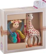 Geschenkset Sophie la girafe und Herzrassel
