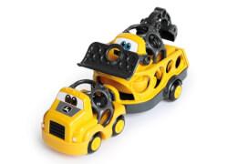Oball Go Grippers John Deere Construction Trailer Set