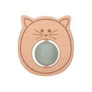 Beißring ''Ball'' Holz/Silikon Little Chums Cat