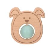 Beißring ''Ball'' Holz/Silikon Little Chums Dog