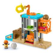 Mattel HCJ64 Fisher-Price Little People Baustellen Spielzeug-Set, Kleinkind Spielzeug