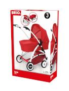 BRIO 63900000 Puppenwagen Spin rot m.Schwenkräder