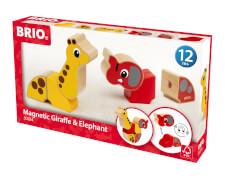 BRIO 63028400 Magnetic Giraffe and Elephant
