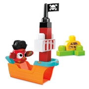 Mattel GRV34 Mega Bloks Guck-Guck Piratenschiff (11 Teile)