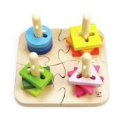 Hape - Kreatives Steckpuzzle, 16-teilig, ab 18 Monaten