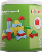 SpielMaus Holz Steckboxtrommel mit 30 Bausteinen
