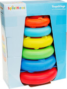 SpielMaus Baby Stapelturm, 6-teilig, Babyspielzeug, ca. 7,5x19x21,5 cm, ab 6 Monaten