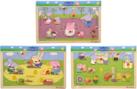 Peppa Pig, Steckpuzzle, 3-sortiert.