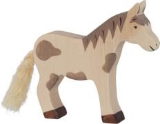 GoKi Pferd, stehend, gefleckt