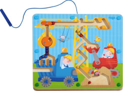 HABA - Magnetspiel Auf der Baustelle, ca. 25x22x2 cm, ab 2 Jahren