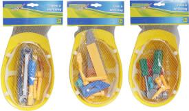 Outdoor active Baustellenhelm mit Werkzeug, 12-teilig für Kinder