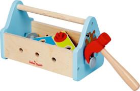 Die Spiegelburg 315137 Die Lieben Sieben - Werkzeugkasten, Holz/Kunststoff, ca. 24x13x15 cm