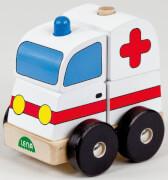 Pz. Holzsteckfahrzeug Krankenwagen