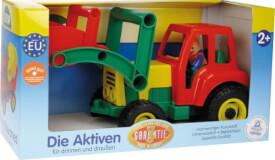 Aktive Traktor mit Frontschaufel,Schauk.