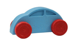 Anbac-Auto-Chassis blau/Räder rot