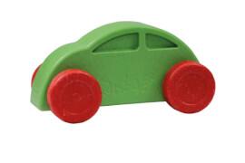 Anbac-Auto-Chassis grün/Räder rot