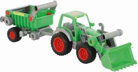 Wader Traktor mit Frontschaufel und Kippanhänger