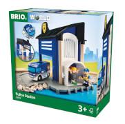 BRIO 63381300 Polizeistation m. Einsatzfahrzeug
