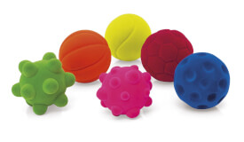 Rubbabu Mini Ball,  5cm,  6-fach sortiert