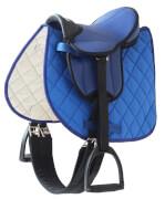 Helga Kreft - Sattelset blau für Gartenpferde