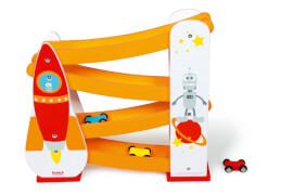 Scratch - Autorennbahn Rakete mit 3 Autos
