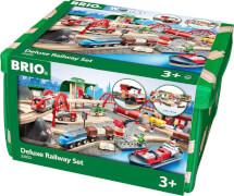 BRIO 63305200 Straßen & Schienen Bahn Set Deluxe
